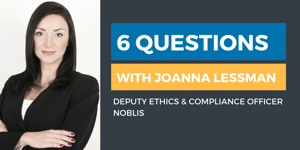 Six Questions with an Ethics & Compliance Officer: Joanna Lessman