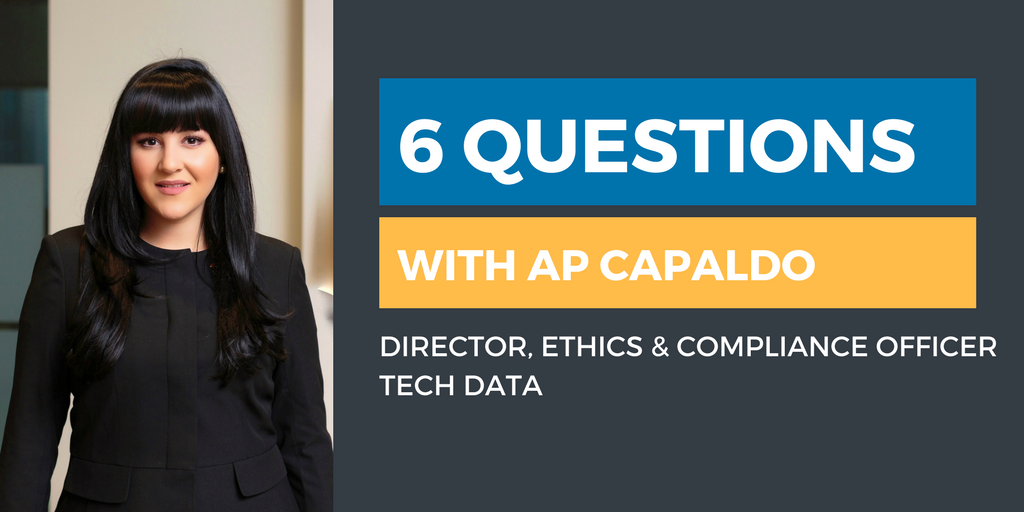 Six Questions with an Ethics & Compliance Officer: AP Capaldo