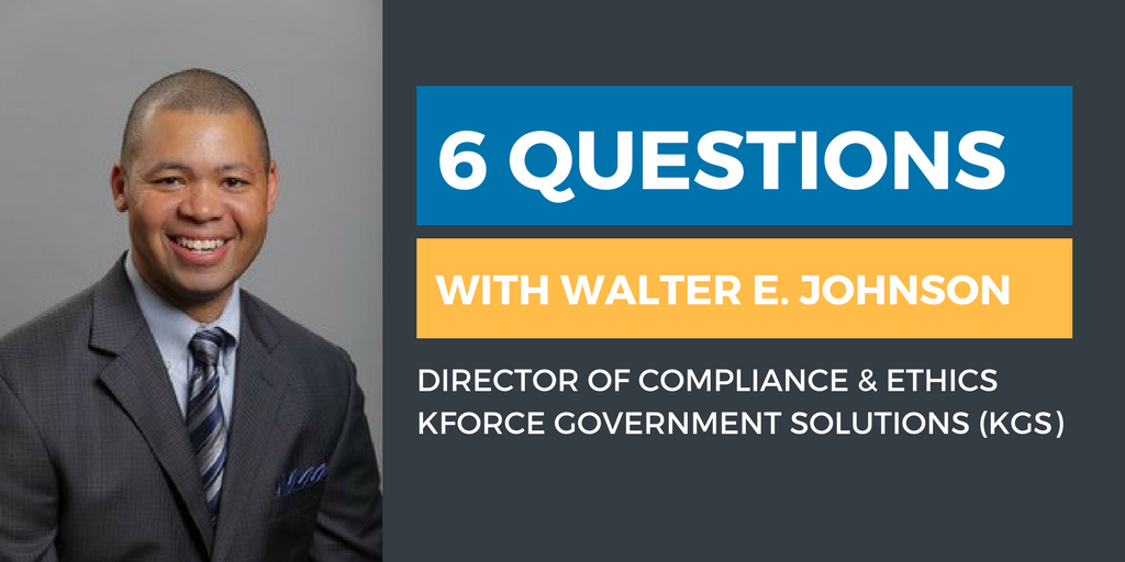 Six Questions with an Ethics & Compliance Officer: Walter Johnson