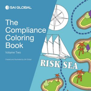 SAI Global Compliance Coloring Book Cover 2018