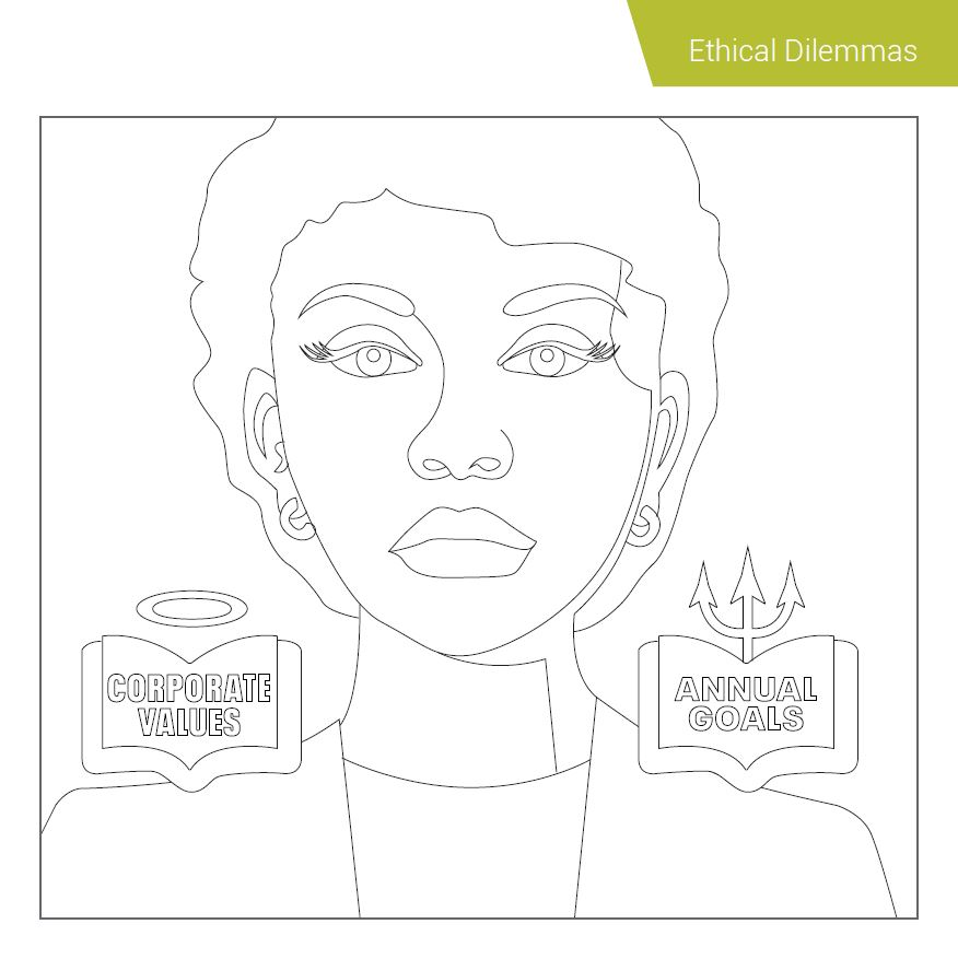 Ethical Dilemmas Compliance Coloring Book SAI Global 2018